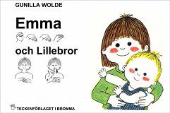 Cover for Emma och Lillebror - Barnbok med tecken för hörande barn