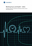 Cover for Working hours and health - 2014