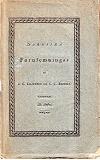 Cover for Nordiska fornlemningar III Häftet – Återutgivning  av tidskrift från 1819