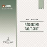 Cover for När orden tagit slut