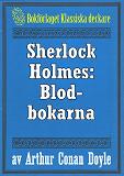 Cover for Sherlock Holmes: Äventyret med blodbokarna – Återutgivning av text från 1947
