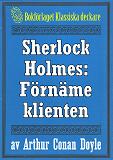Cover for Sherlock Holmes: Äventyret med den förnäme klienten