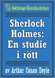 Cover for Sherlock Holmes: En studie i rött – Återutgivning av text från 1927