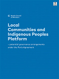 Cover for Local Communities and Indigenous Peoples Platform: - potential governance arrangements under the Paris Agreement