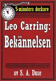 Cover for 5-minuters deckare. Leo Carring: Bekännelsen. Återutgivning av text från 1918