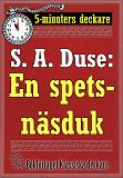 Cover for 5-minuters deckare. S. A. Duse: En spetsnäsduk. Detektivhistoria. Återutgivning av text från 1924
