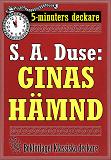 Cover for 5-minuters deckare. S. A. Duse: Ginas hämnd. Berättelse. Återutgivning av text från 1919