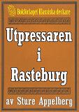 Cover for Utpressaren i Rasteburg. Återutgivning av text från 1935