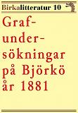 Cover for Grafundersökningar på Björkö år 1881. Birkalitteratur nr 10.