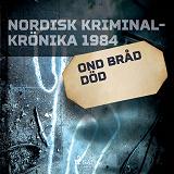 Cover for Ond bråd död