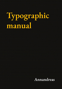 Cover for Typographic manual